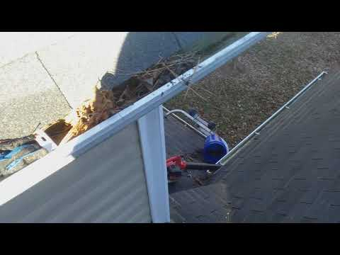Cleaning Hard to Reach Gutters High on Your Roof -- Agora Window Cleaning (Charlotte, NC)