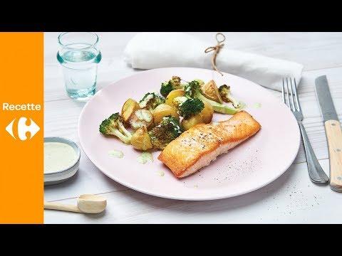 filet-de-saumon,-brocolis-et-sauce-basilic-tahini