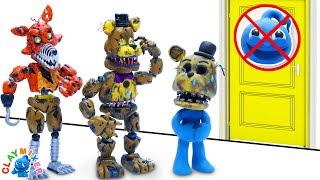 Tiny Disguised Himself as Golden Freddy - FNAF Animatronic Stop Motion Animation Short Film