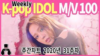 [주간차트 2020년 31주차] 금주의 KPOP 아이돌 뮤직비디오 순위 100 - 2020년 8월 2일 ★ …