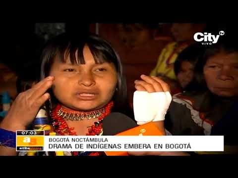 Indígenas embera desplazados se enfrentaron a la Policía en Bogotá | CityTv