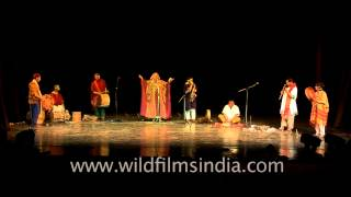 Performance by the folk musicians at Africa Festival, Delhi