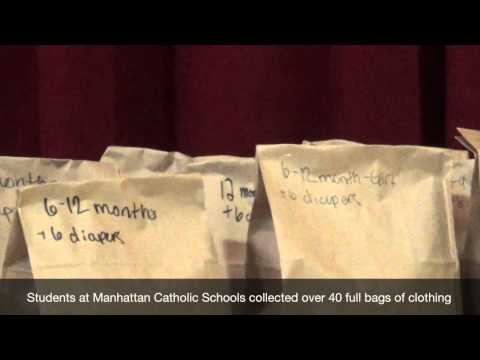 Sunflower CASA Project & Manhattan Catholic Schools Team Up for Kids