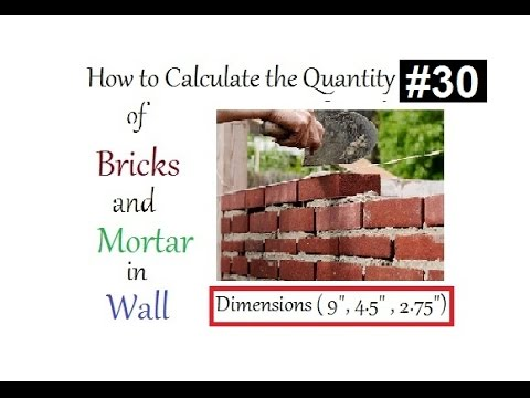 How to calculate the Quantity of bricks and mortar  in wall in Urdu/Hindi