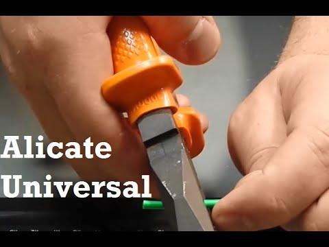 Como desencapar um cabo elétrico - Alicate Universal