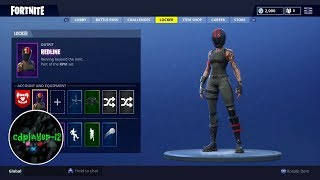 REDLINE skin gameplay Fortnite Battle Royale