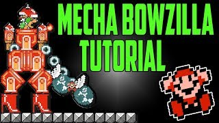 Super Mario Maker - Mecha Bowzilla Tutorial - Tips and Tricks