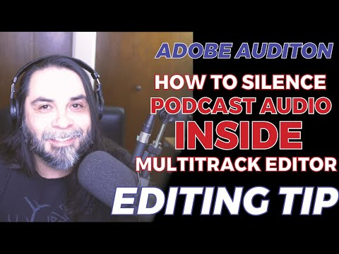 Easily Silence Part of a Podcast Audio Track in Adobe Audition Multitrack Editor