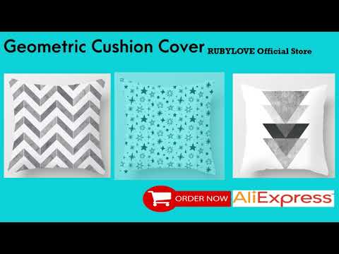 RUBYLOVE Geometric Cushion Cover Black And White Polyester Throw Pillow Case Striped Dotted Grid
