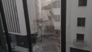 Офис дипмиссии РК после взрыва в Бейруте