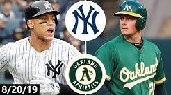 New York Yankees vs Oakland Athletics Highlights | August 20, 2019 (2019 MLB Season)