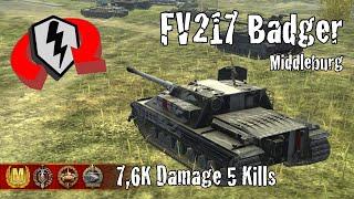 FV217 Badger     7,6K Damage 5 Kills     WoT Blitz Replays