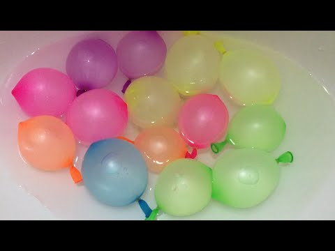 6 cute water balloons Learn Colours Balloon Finger Nursery Rhy Collection.