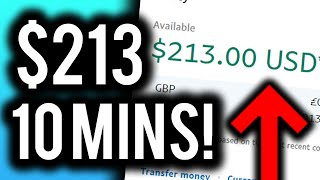 💻 How I Made $213 in 10 MINUTES! (and how YOU can too!)