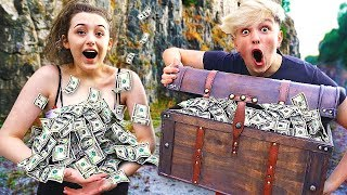 I Went Exploring & Found $100,000 in Abandoned Treasure Chest... (Treasure Hunt Challenge) thumbnail