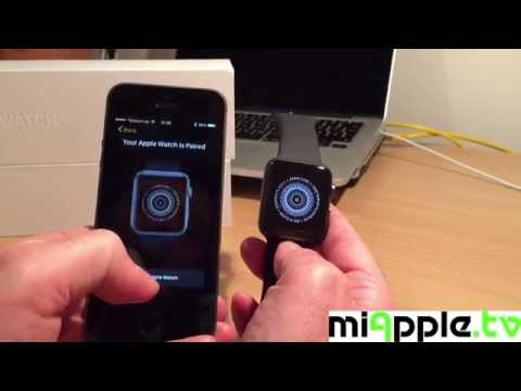 Setting up Apple Watch Sport with 42 mm Space Gray Aluminium Case and Black Sport Band