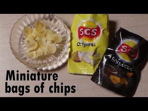 Miniature Bag Of Chips (Lay's Inspired) - Polymer Clay & Paper Tutorial