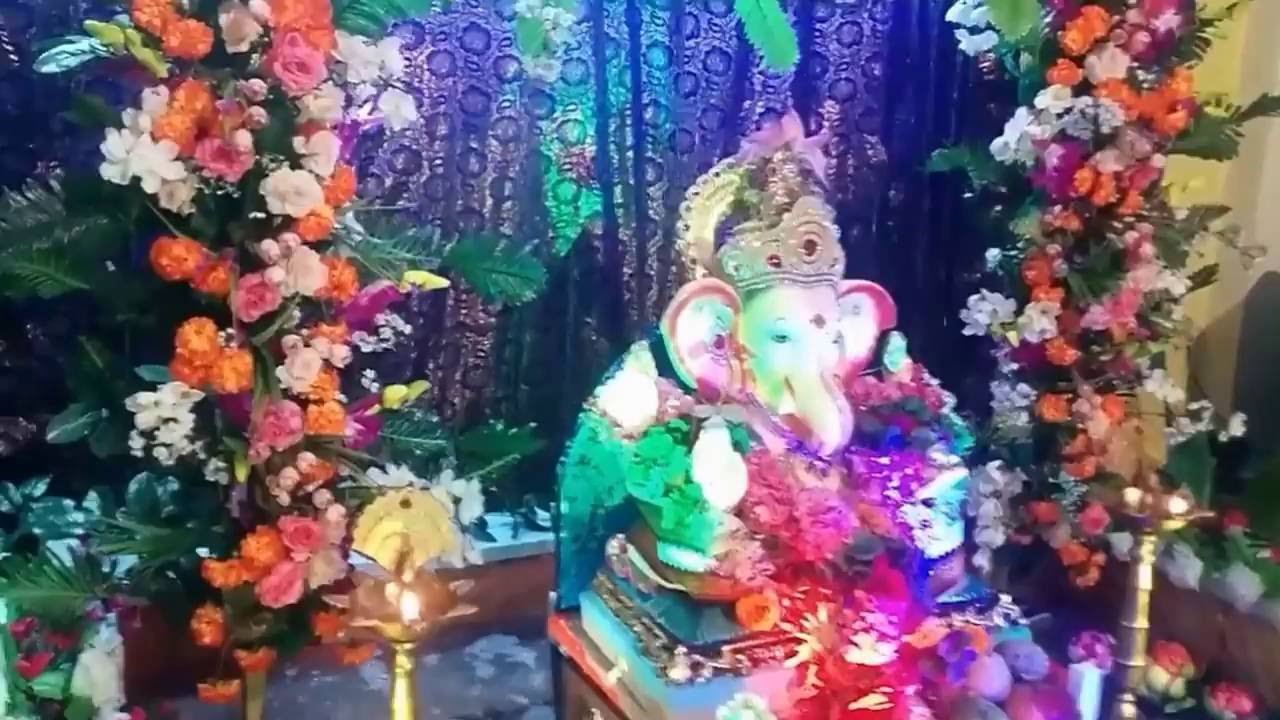 Creative Ganesh Chaturthi Home Decoration With Making 2016 Youtube