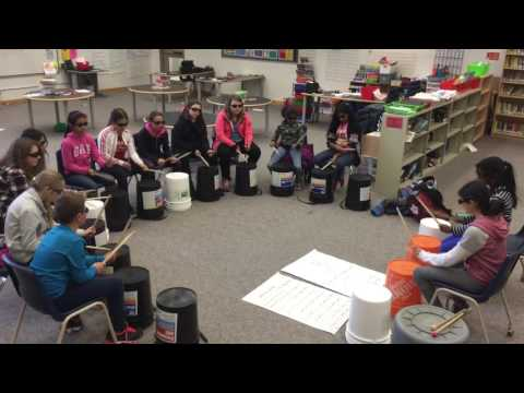 Fieldcrest elementary school's bucket drumming club