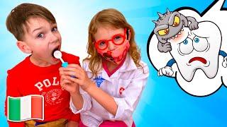 Cinque Bambini Lavare i Denti! Canzoni per Bambini