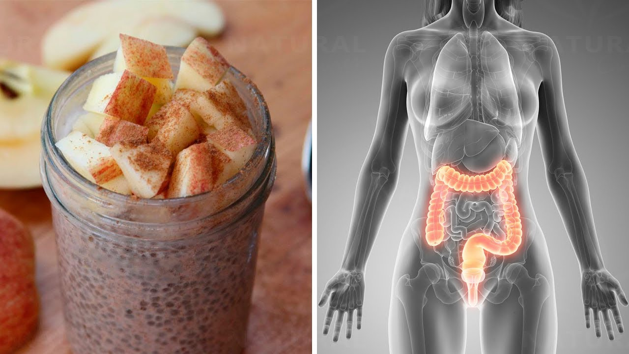 Natural Colon Cleanse Recipe with Honey, Apple, Chia, and Flax Seeds