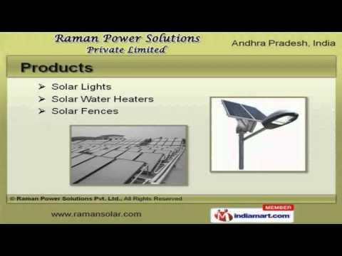Solar Equipment by Raman Power Solutions Pvt Ltd, Hyderabad