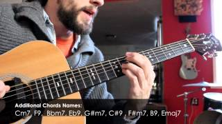 Jazz Guitar Lesson - Walking Bass-line Coordination Exercise