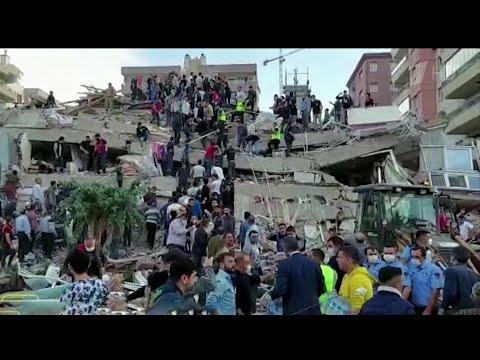 В Эгейском море произошло землетрясение: в прибрежных районах Турции и Греции разрушения и погибшие.