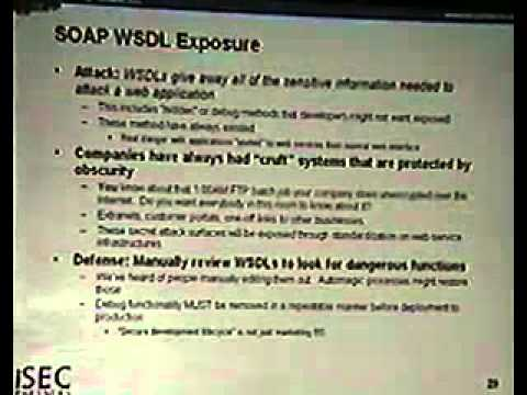 DEF CON 13 Hacking Conference Presentation By Stamos, Stender - Attacking Web Services - Video