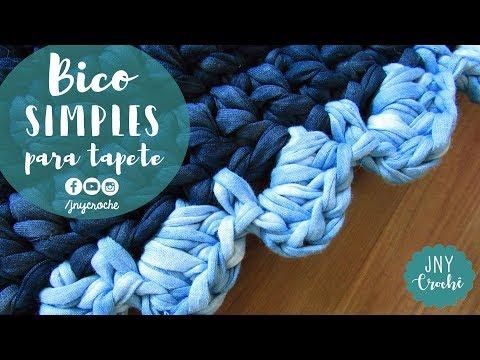 Bico de crochê simples e fácil para tapete | Aula 10 - JNY Crochê