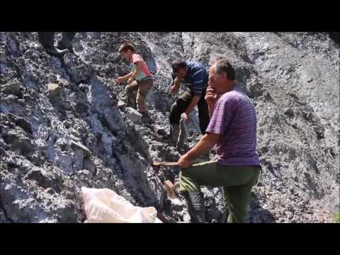 Traditional extraction of rock salt in the Carpathian piedmont of Romania