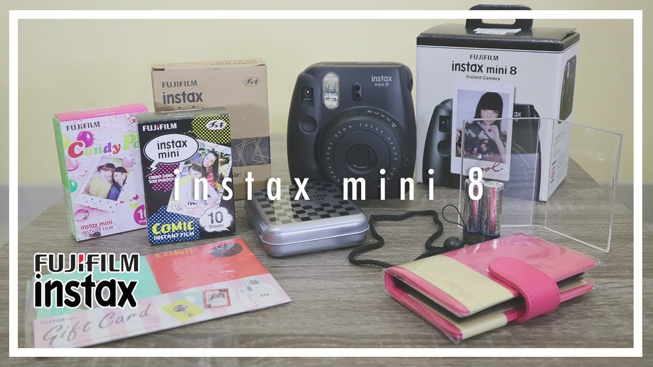 Review Instax Mini 8 Harajuku Combo Super Awesome Products In A Box Youtube