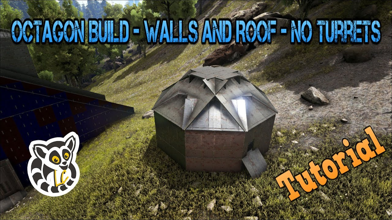 Ark: Survival Evolved   Octagon Build   Walls And Roof   No Turrets