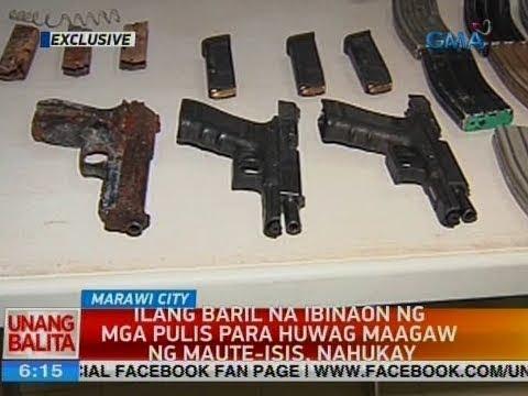 UB: Ilang baril na ibinaon ng mga pulis para huwag maagaw ng Maute-ISIS, nahukay