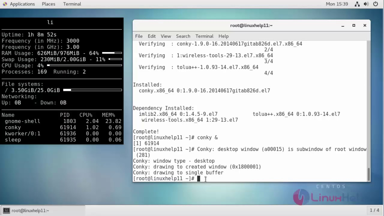 How to install Conky on CentOS 7