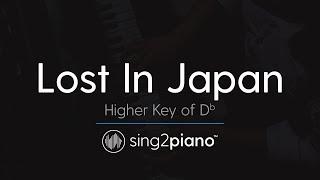 Lost In Japan (Higher Key of Db - Piano Karaoke Instrumental) Shawn Mendes