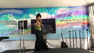 RINGO OIWAKE (Hibari Misora) Open Karaoke Stageりんご追分 飛び入りカラオケ