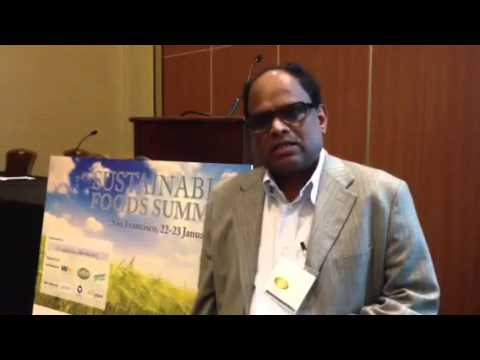 High Quality Organics' CEO, Raju, at the Sustainable Foods Summit