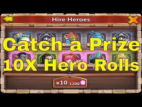 Castle Clash Catch A Prize Event And 10X Hero Rolls
