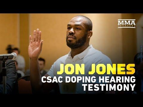 Jon Jones Defense Testimony at CSAC Doping Hearing - MMA Fighting