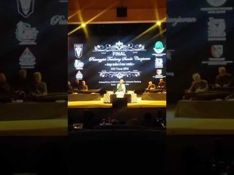 Taofik mukhariman..  Final Pasanggiri tembang sunda cianjuran 2016 DAMAS