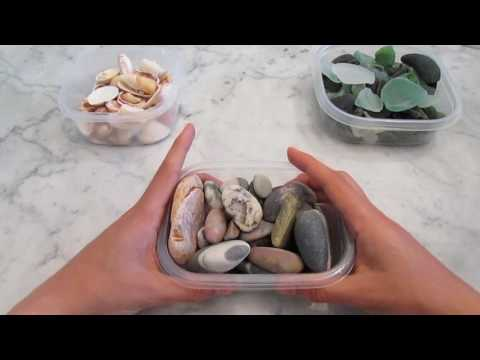 ASMR Beach Glass, Rocks, and Shells. Tapping and Scratching Tingles!