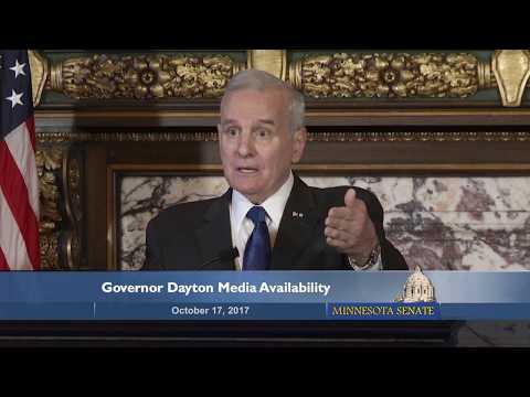 Governor Mark Dayton Media Availability, October 17