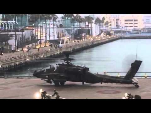 自衛隊ヘリコプター離陸