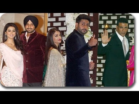 Shahrukh Khan, Virat Kohli, MS Dhoni Attends Harbhajan Singh's Wedding Party @ Ambani's House