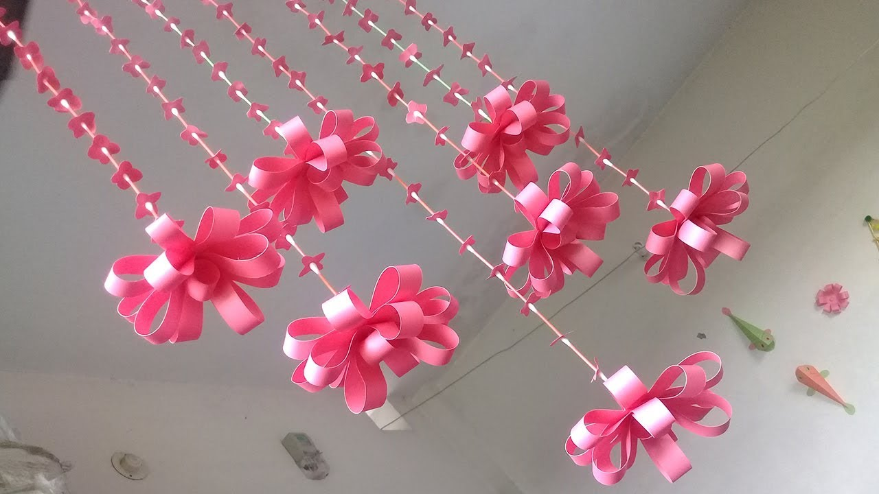 Wall decoration Ideas With Paper | Paper Quilling wall ...