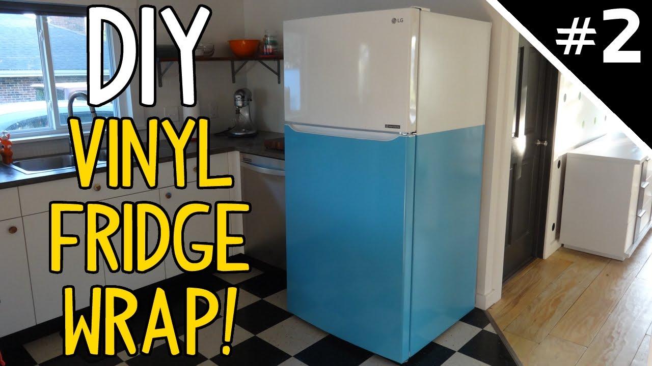 Wrap Your Fridge In Vinyl Part 2 Of 2 Youtube