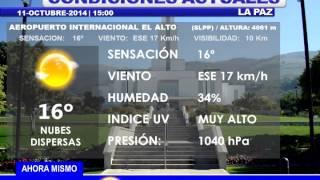 Pronóstico del Tiempo [BOLIVIA/MUNDO] 11-12-13-Oct-2014