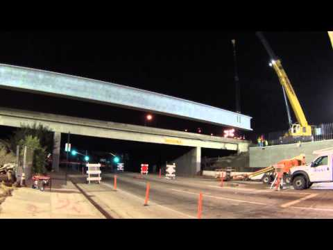 Longest precast pretension girders on the I-5 in Norwalk
