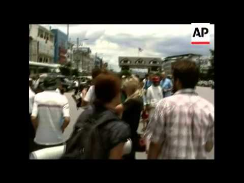 Protest against Myanmar govt at Chinese embassy, protest at Thai border